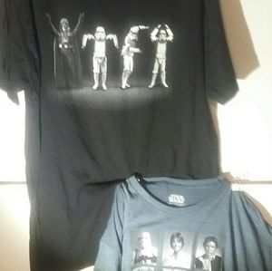 2 Star Wars T Shirts 2XL
